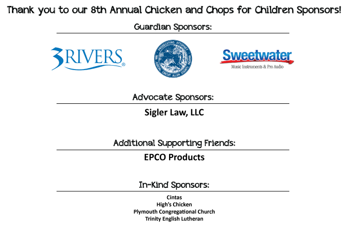 2018 Chicken for Children Sponsors